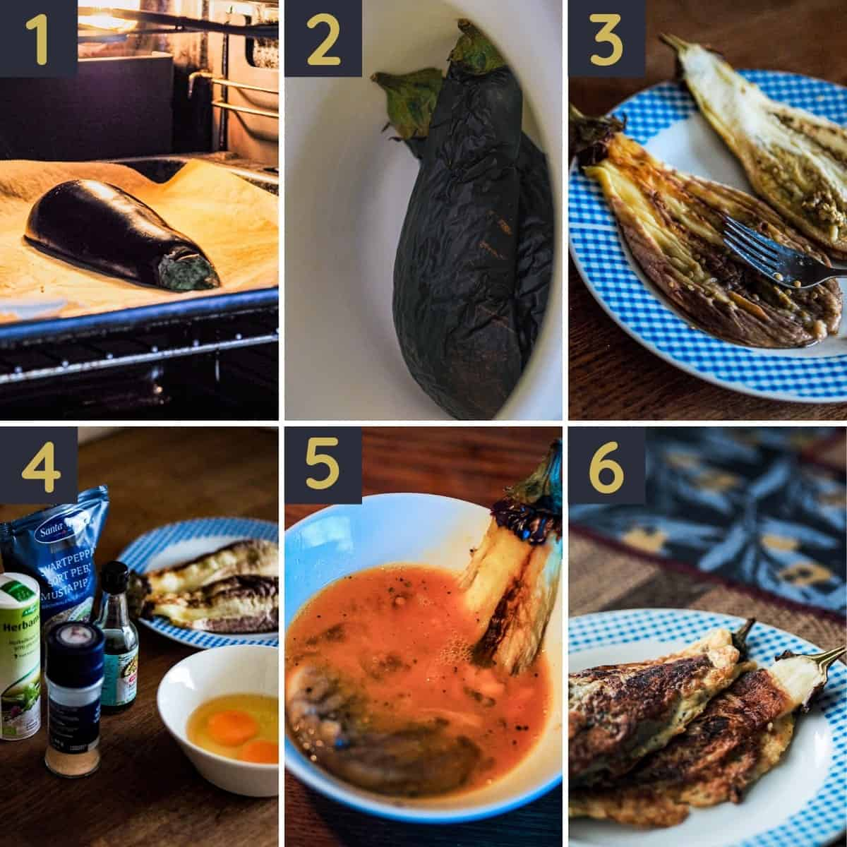 Step-by-step guide on how to make this Filipino eggplant omelet