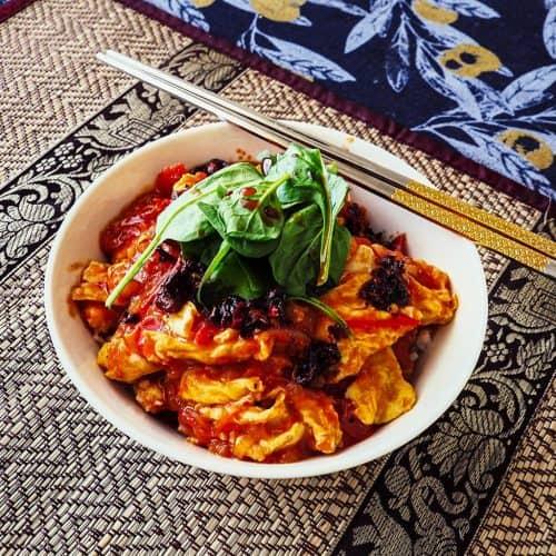 Final dish – scrambled tomato and egg dish