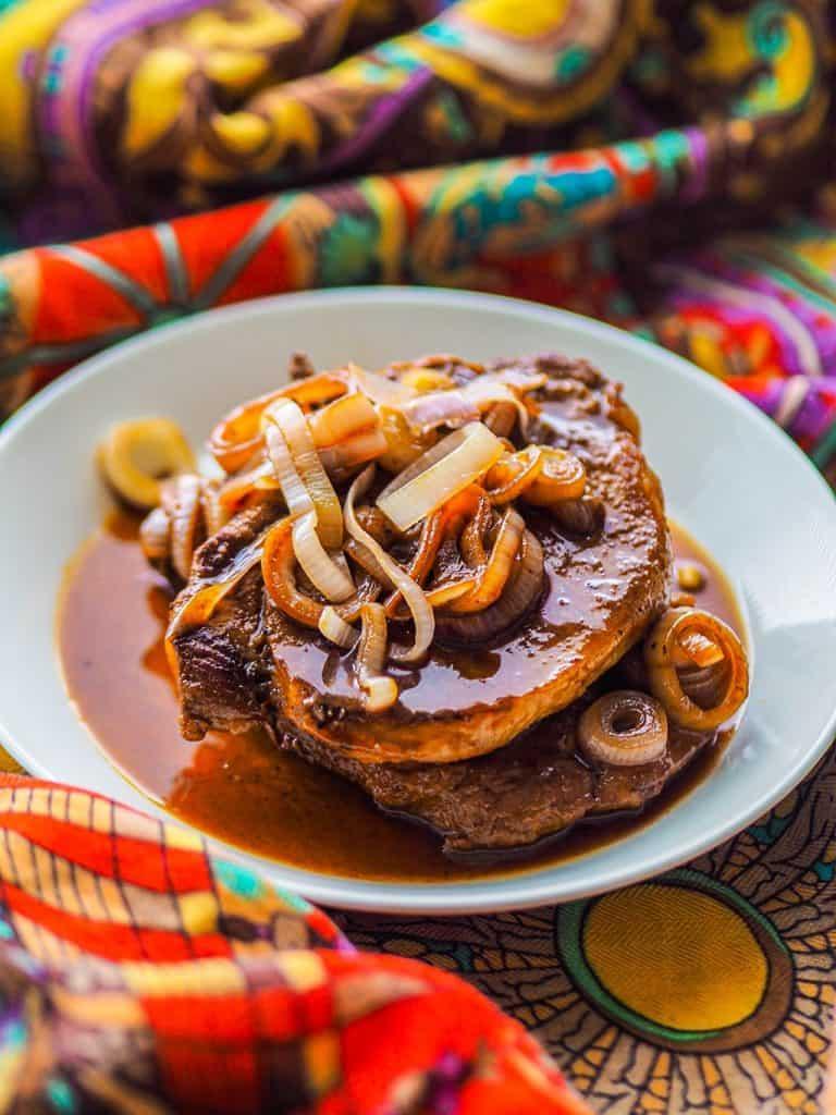 filipino pork chop in soy sauce glaze recipe-6
