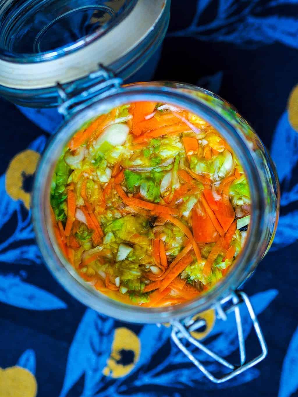 Spring cabbage sauerkraut recipe
