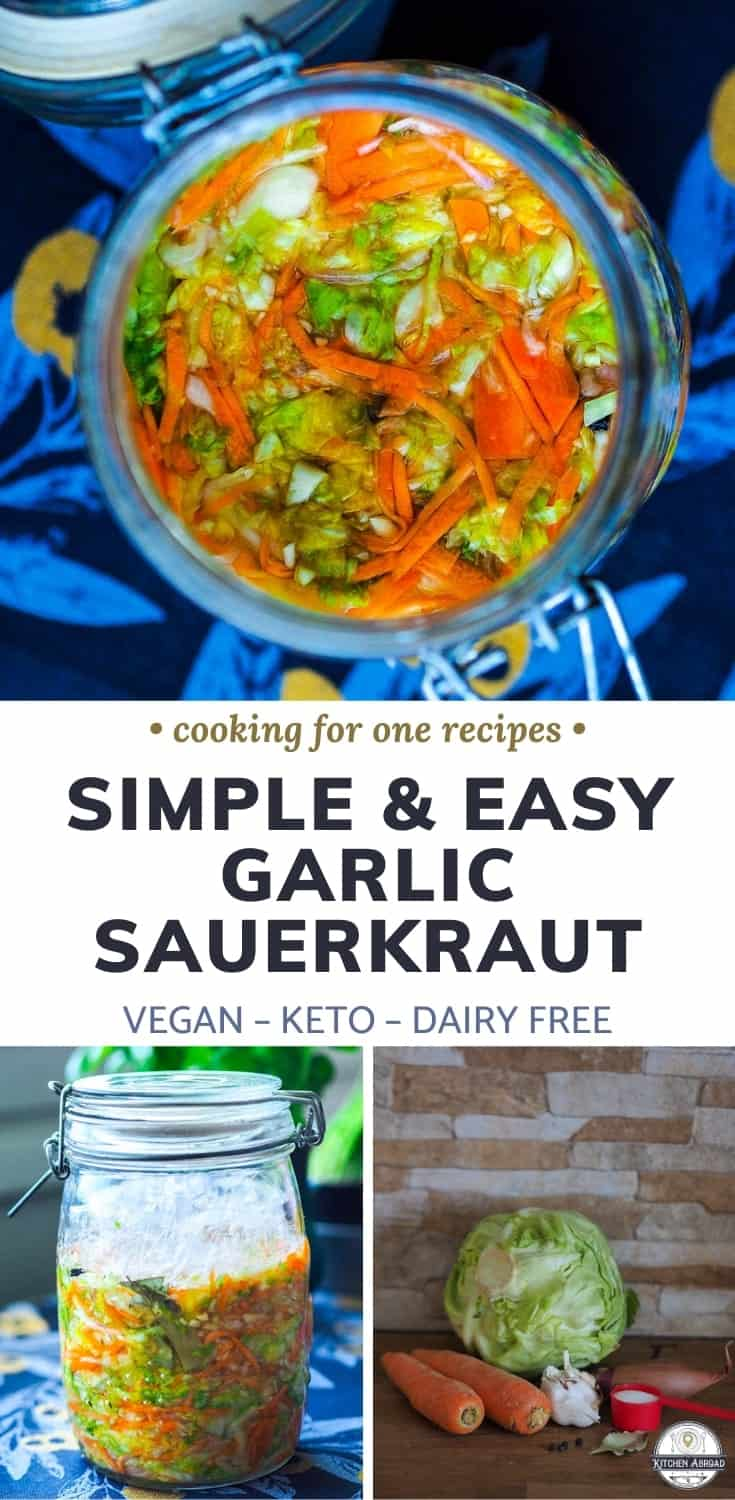Want to make the perfect side dish that goes well with grilled foods? Try this amazing sauerkraut recipe! It is easy to make and so much better than store bought ones. Try this now or pin it for later! #sauerkraut #germandish #vegansides #sidedish | recipes cabbage | cabbage dinner | recipe with cabbage | cabbage meals | cabbage recipe | cabbage dishes | healthy cabbage recipe | Gluten free dinners | Dairy free dinners | Keto