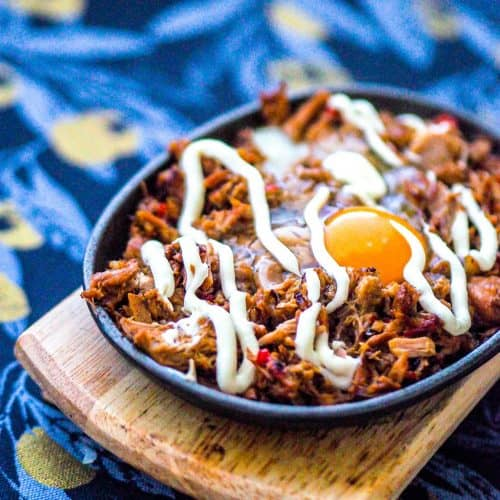 If you're looking for canned tuna recipe ideas, why not try this Filipino inspired sizzling tuna sisig recipe. It have the perfect balance of savory, spicy, and sweet. Try this now or pin it for later! #tofurecipe #cookingforone #30minutemeals #dinnerideas #vegetariandish #filipinofood #filipino recipes | best tuna recipes | tuna dinners | tuna meals | how to cook canned tuna | tuna dinner recipes | cooking with canned tuna | recipe with canned tuna | canned tuna ideas | asian food | Dairy free dinners