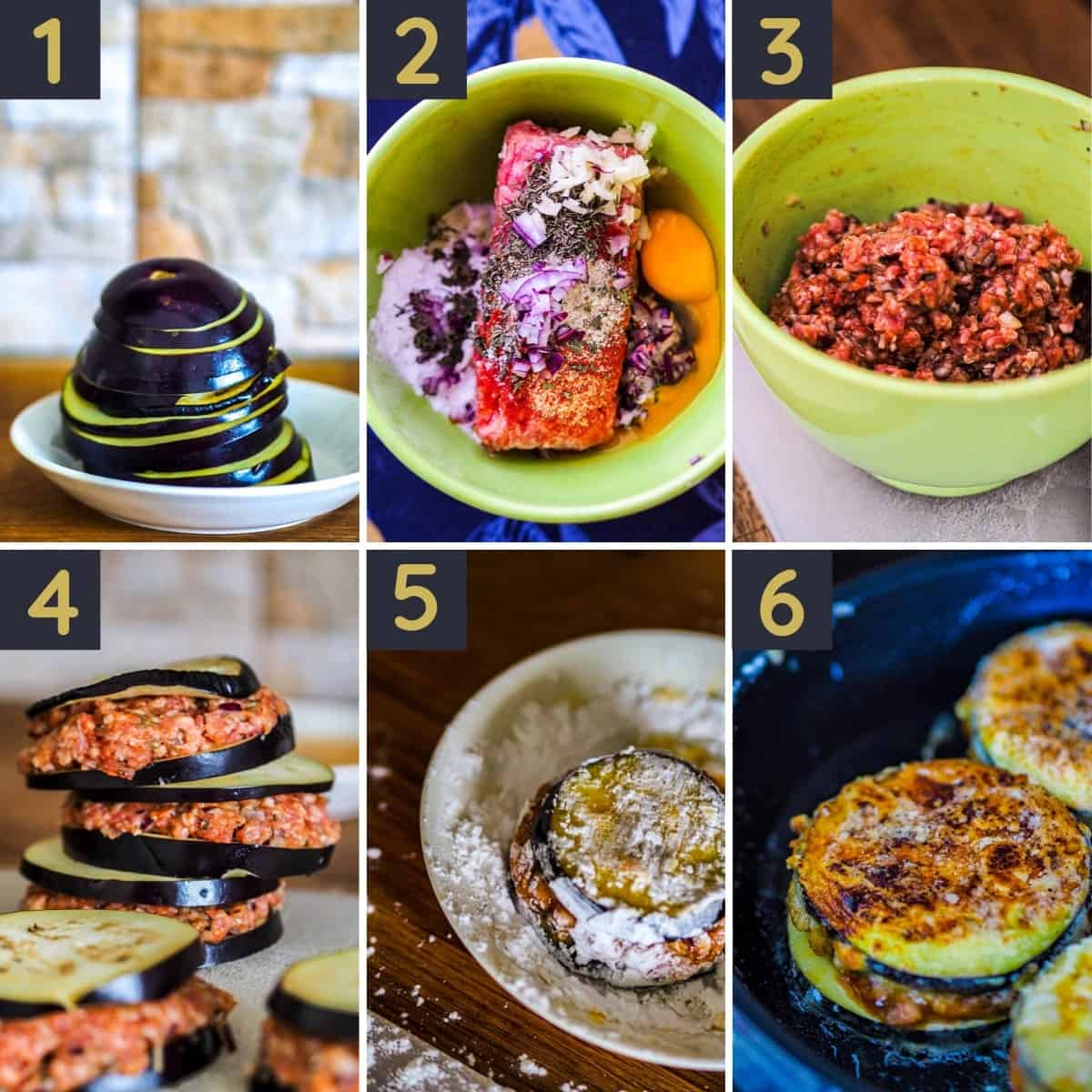 Step by step stuffed aubergine recipe guide