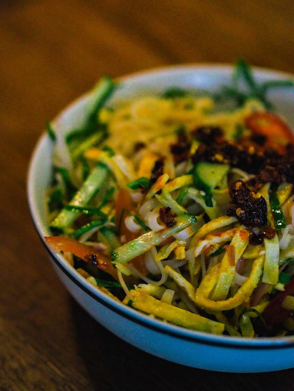 Delicious summer rice noodles salad