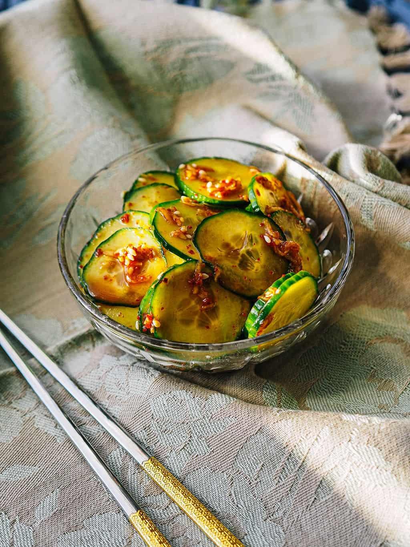 Asian Cucumber Salad Recipe FINAL PRODUCT