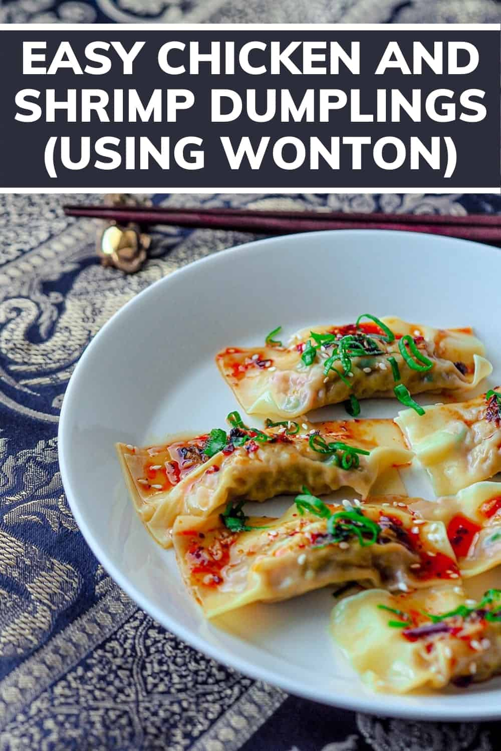 Looking for the best dumplings recipe? This is a really easy chicken and shrimp wonton dumplings recipe that can be eaten in soups or just simply steamed. Try it now or pin it for later! #cookingforone #30minutemeals #singleserving #recipeforone #foodrecipes #onedishkitchen #dinnerideas #easyrecipe #dumplings | home made dumplings recipe | how to make | chicken dumplings | healthy dumplings | dumplings easy | easy chicken dumplings | chicken dumplings | easy dumplings | dumplings chicken | Dairy free