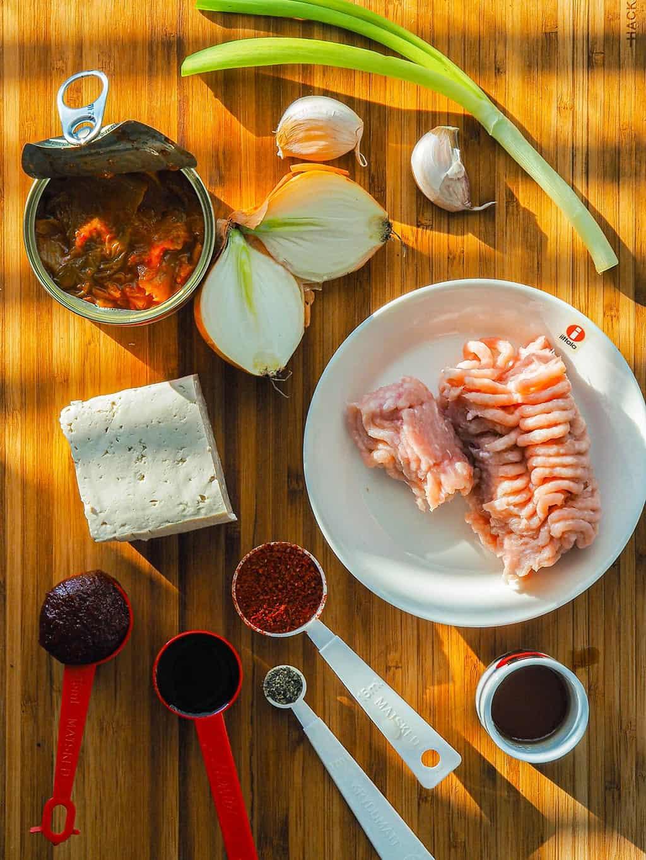 Kimchi Stew Recipe with Chicken INGREDIENTS