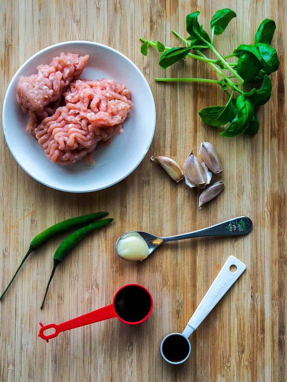 Pad Kra Pao Recipe Chicken Thai Basil Stir Fry INGREDIENTS