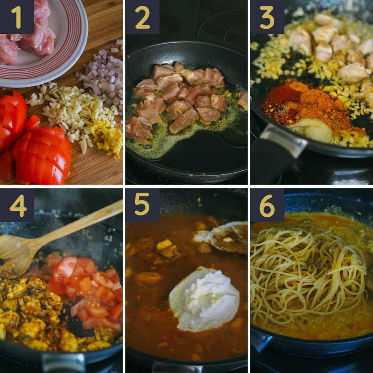 Step by step photo for pollo limonello pasta recipe